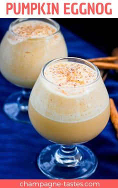 (ad) This easy bourbon Pumpkin Eggnog is an autumn take on the classic winter cocktail, and is ready start-to-finish in about 10 minutes.