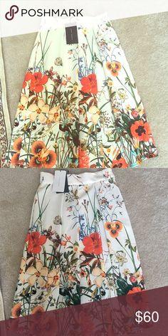 da19436da8 Zara skirt. Midi length, beautiful floral print. Zara skirt. Midi length,