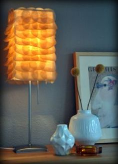another Ikea lamp altered with cupcake liners