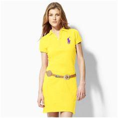 79399d8d9f95 ralph lauren sport! Bonne qualité Big Pony Polo robe jaune Ralph Luaren, Polo  Ralph