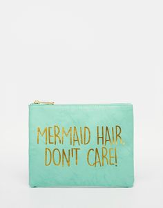 Image 1 of ASOS Mermaid Slogan Make Up Bag