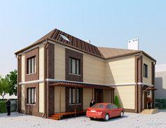 Коттедж г.Ростов-на-Дону: архитектура, 2 этажа | 6м, жилье, эклектика, 100 - 200 м2, фасад - кирпич, коттедж, особняк #architecture #2floors_6m #housing #eclecticism #100_200m2 #facade_brick #cottage #mansion