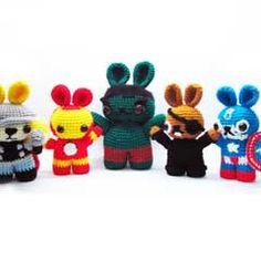 BunnyVengers #amigurumi #crochet pattern by Sweet n' Cute Creations at Amigurumipatterns.net $2.95 #Avengers