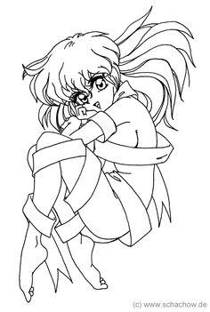 Zeichnung einer Manga Frau