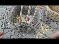 Ажурная ручка для корзины. Плетение из газет - YouTube
