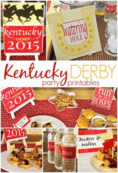 FREE Kentucky Derby party printables - updated for 2016