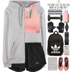 A fashion look from February 2016 featuring T By Alexander Wang hoodies, NIKE activewear shorts and adidas sports bras. Browse and shop related looks.