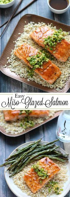 This Red-Miso Salmon recipe is a restaurant-quality meal, in 30 minutes! With bold, bright, savory Asian flavors, it's satisfying and vibrantly delicious! Fun Easy Recipes, Wrap Recipes, Entree Recipes, Fish Recipes, Seafood Recipes, Beef Recipes, Easy Meals, Dinner Recipes, Asian Recipes