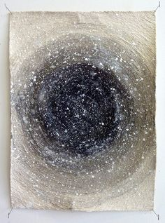 "Hein Koh: The Universe, acrylic, ink and string on canvas, 20"" x 15"", 2011"