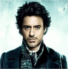 Sherlock Holmes played by Robert Downey Jr