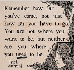 I love it!!!! Don't let yourself get down just think of how far you've come and how much further you can get : )