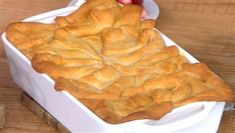 Joanna Gaines tops chicken pot pie with crescent roll dough for an easy dinner