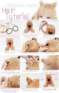 Cat hair ♥ kawaii and ulzzang hairstyle