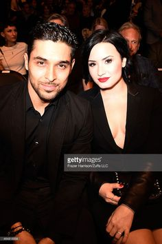 Actor Wilmer Valderrama and singer Demi Lovato in attandance during the UFC 184 event at Staples Center on February 28, 2015 in Los Angeles, California.