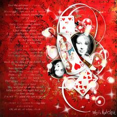 """Sweet-Chick Scrap and Co My page with the kit """"La Reine de Coeur"""" by Kitty Scrap"""