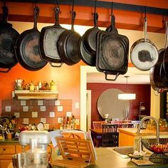 pots and pans open shelving storage