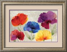 Jewel Florals Art Print by Anna Polanski at Art.com