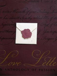 Beautiful book of love letters.