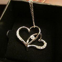 Avon Sterling Silver Everlasting Love Heart Pendant Necklace. New In Box. 2015 #Avon #Pendant