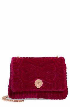 Ted Baker London Quilted Velvet Crossbody Bag