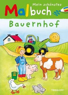 Mein schönstes Malbuch. Bauernhof Illustration, Family Guy, Children Books, Guys, Comics, Fictional Characters, Animals, Coloring Book, Nice Asses