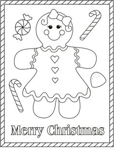 gingerbread girl gingerbread girl printable christmas coloring pages