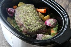 If you've wondered how to cook a frozen roast in a crock pot without thawing, this recipe is for you. It's great for unexpected last minute situations.