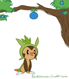 perfectly looped gif chespin