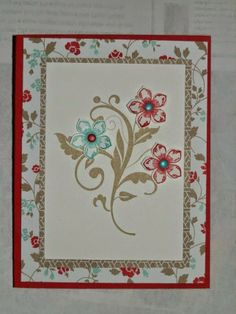 Sunday, May 18, 2014 Janet Forton Stampin' Up!:  May Card Class Flowering Flourishes, Petite Petals, Fresh Prints paper stack