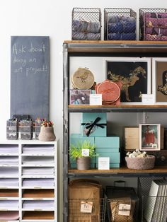 Organize your craft space with vintage wire baskets Craft Organization, Craft Storage, Wire Storage, Organizing Ideas, Storage Ideas, Shop Storage, Paper Storage, Storage Solutions, Basket Storage