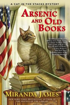 Book Reviews | Open Book Society | ARSENIC AND OLD BOOKS (CAT IN THE STACKS, BOOK #6) BY MIRANDA JAMES: BOOK REVIEW