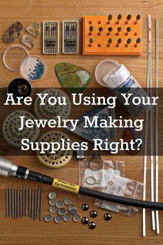 you need to know about jewelry making supplies and how to best use them are included in this FREE eBook!Everything you need to know about jewelry making supplies and how to best use them are included in this FREE eBook! Jewelry Tools, Metal Jewelry, Crystal Jewelry, Gold Jewelry, Beaded Jewelry, Handmade Jewelry, Jewelry Ideas, Diamond Jewelry, Jewelry Shop