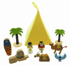 www.courtneysplayhouse.com Egyptian Playset THIS SET COMES WITH A FABRIC PYRAMID AND WOODEN FIGURINES. THIS SET WILL OFFER MANY HOURS OF PLAY TIME. ENCOURAGES ROLE PLAY. HELPS WITH SOCIAL AND MOTOR SKILLS. WHEN FINISH PLAYING ALL SMALL PARTS CAN BE PACKED IN THE PYRAMID.