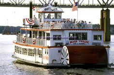 Mark Twain Steamboat On Mississippi River Hannibal Missouri
