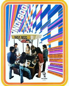 WEBSTA @favoritevideogamessince71 Indy 800 (1975 Arcade By Kee Games). 8-player competition with fully color graphics, exciting sound effects and realistic controls. A special optional remote starter button could be used to start a race by a amusement operator who held competitions. http://www.atarimuseum.com/videogames/arcade/arcade75.html