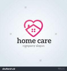 Home care logo,Vector logo template