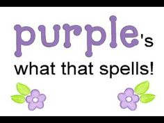 color P-U-R-P-L-E purple song - Kindergarten color P-U-R-P-L-E purple music -- Kindergarten