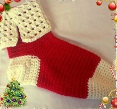 Looking for a cute, elfish Christmas sock? Look no further than the Tunisian Christmas Stocking. Using the unique Tunisian stitch, you can work up this jolly sock with a cute folded cuff.