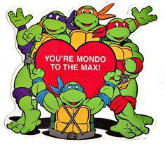 The Teenage Mutant Ninja Turtles send their love. Vintage Valentines, Valentine Day Cards, Happy Valentines Day, Happy V Day, 90s Throwback, Ninja Turtle Party, Comic Panels, Vintage Humor, Teenage Mutant Ninja Turtles