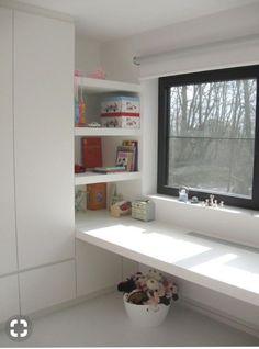 Hotel Bedroom Design, Kids Bedroom Designs, Interior Design Living Room, Kitchen Interior, Home Office Design, Home Office Decor, Home Decor, Shelves, Study