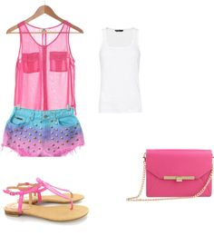 """PINK"" by llanobasin on Polyvore"