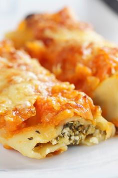 Italian Spinach Cheese Manicotti Dinner #Recipe
