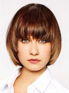 """* Material: Remy Human Hair * Cap Construction: Capless * Hairstyle: Straight * Length: 8""""-10"""" * Weight: 85g * Tips: This Wig comes with the elastic strap. This provides additional comfort, as well as #shorthairstyleswithbangs"""