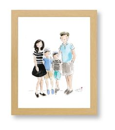 I love love love this, but definitely don't feel like $260 for a watercolor of the family is worth the money spent! Sad day!