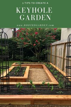 3 Tips to Create a Keyhole Kitchen Garden — Rooted Garden - Keyhole Kitchen Gardens are one of the best layouts for growing fruits, vegetables, and herbs. Potager Garden, Veg Garden, Vegetable Garden Design, Fruit Garden, Backyard Vegetable Gardens, Raised Vegetable Garden Beds, Raised Bed Gardens, Vege Garden Ideas, Porch Garden