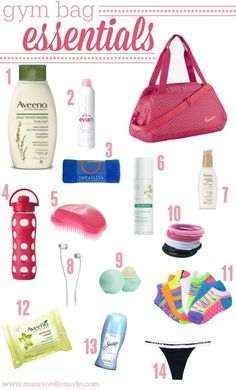 Gym bag essentials with Aveeno