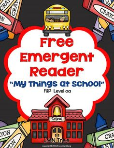 Classroom Freebies: Emergent Reader for Back to School