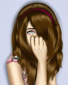 Girly Dp, Girly Girl, Girl Cartoon Characters, Cartoon Girls, Selfie Tips, Girls Tumbler, Crying Girl, Barbie, Girl Sketch