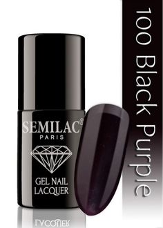 Semilac 100 Black Purple UV&LED Nagellack