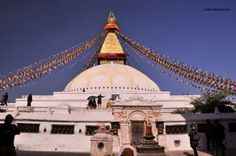 on the road in Nepal stupa